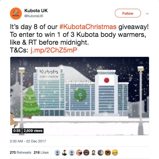 Christmas retweet Twitter giveaway