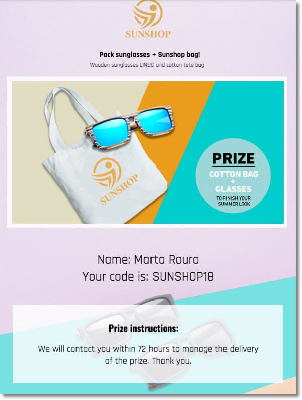 summer coupon example
