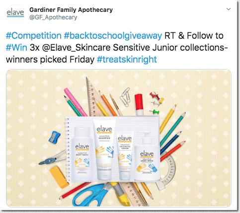 twitter back to school giveaway