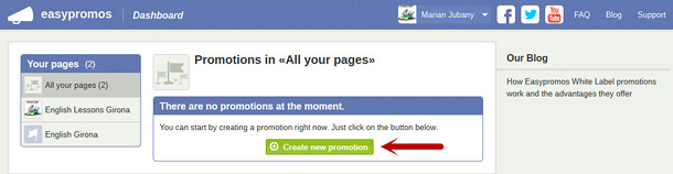 Create new promotion