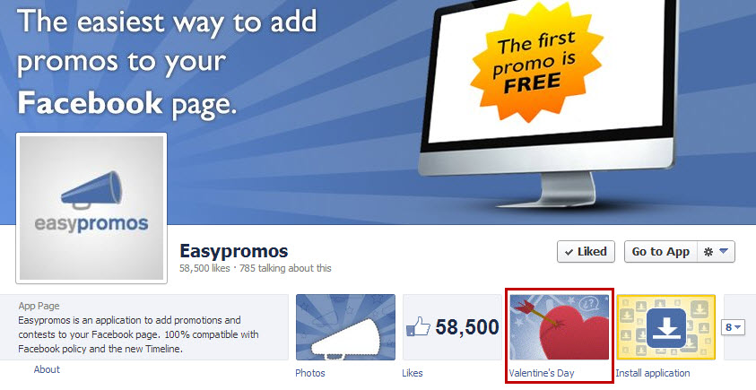 Easypromos - Customize the tab