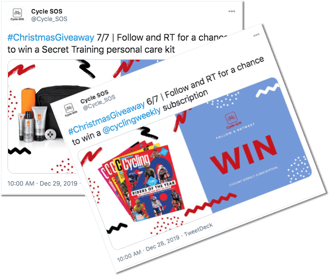 Christmas Twitter giveaway: Cycle SOS