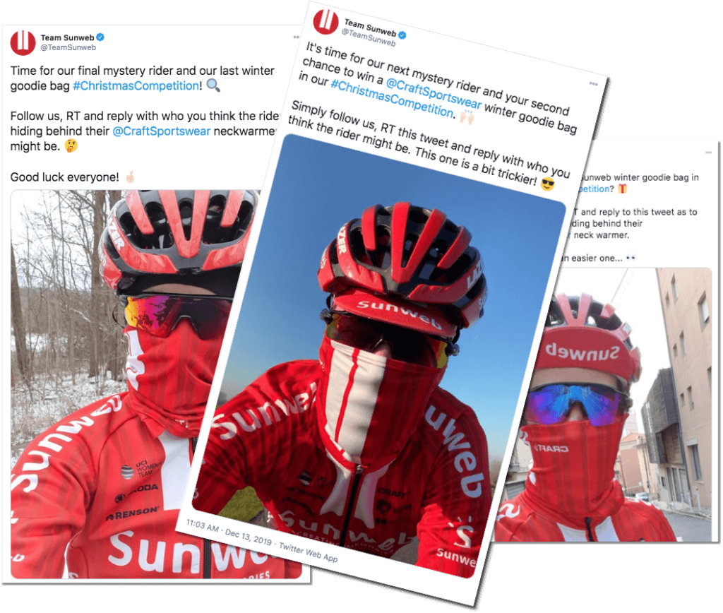 Christmas Twitter giveaway: idea from Team Sunweb