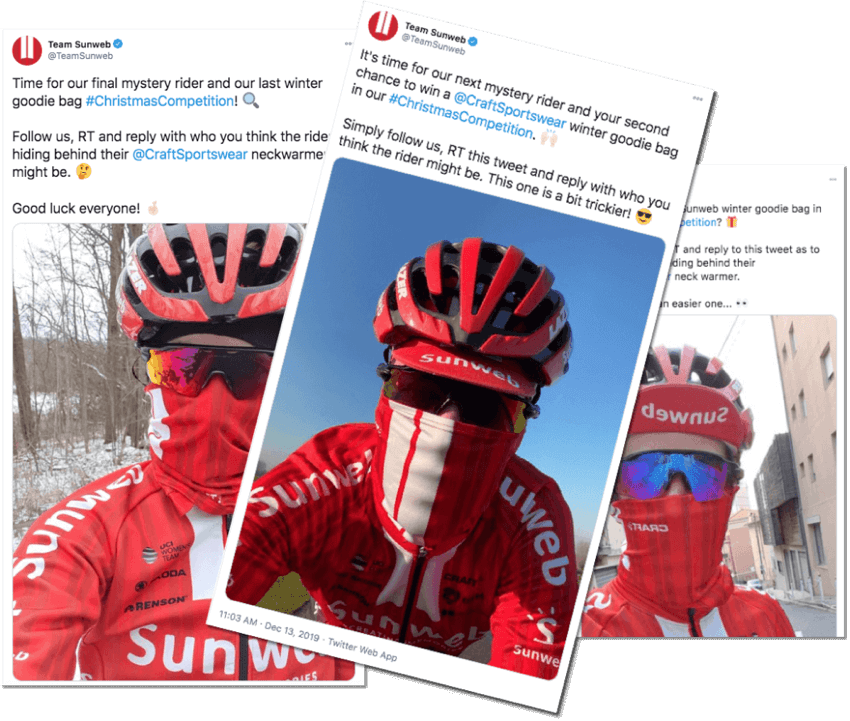 cycling team twitter giveaway