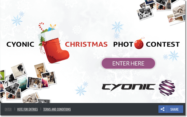 Christmas photo contest products