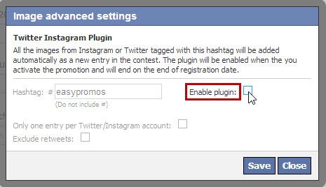 Easypromos - Disable plugin