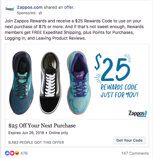 discount facebook post