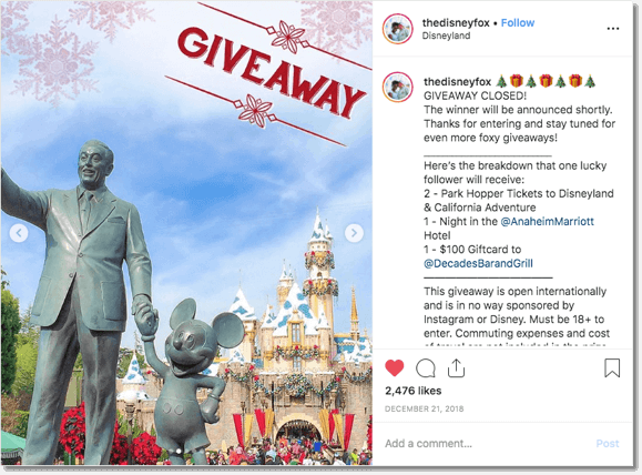 Instagram Christmas campaign ideas
