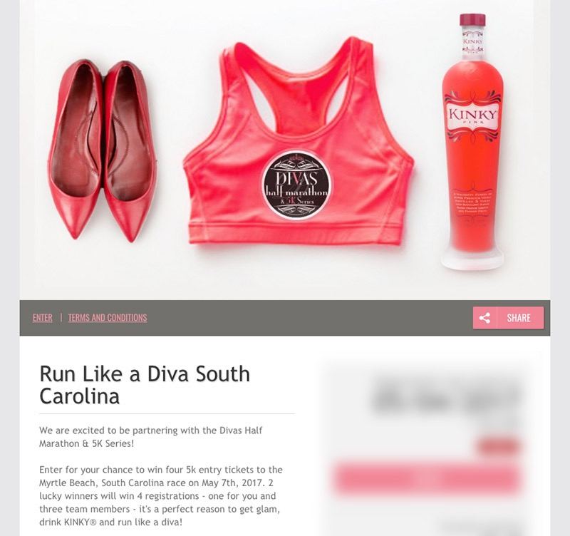 Sports fitness marketing event giveaway