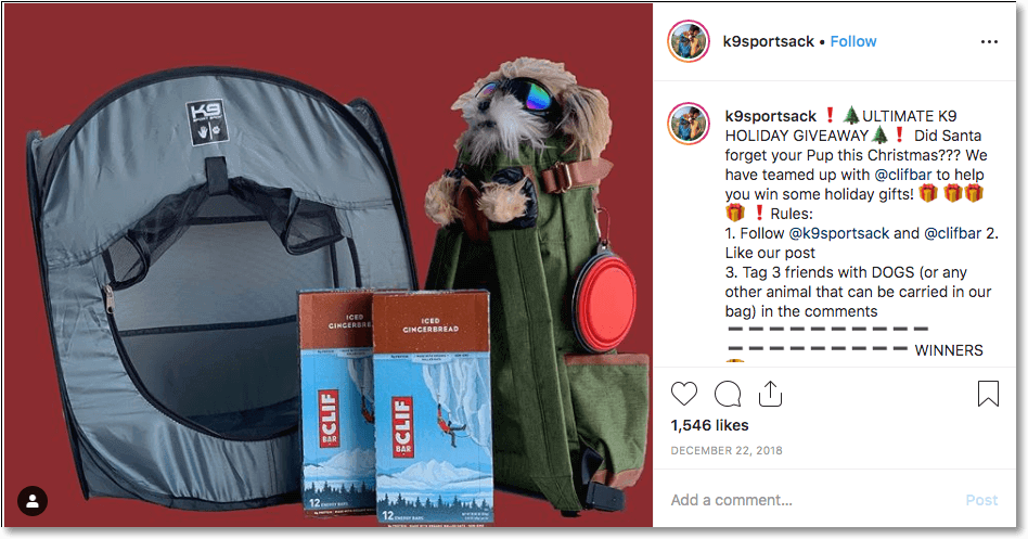 Pet giveaway brand collaboration