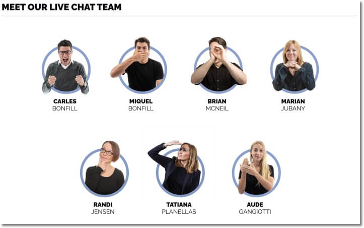 easypromos live chat team