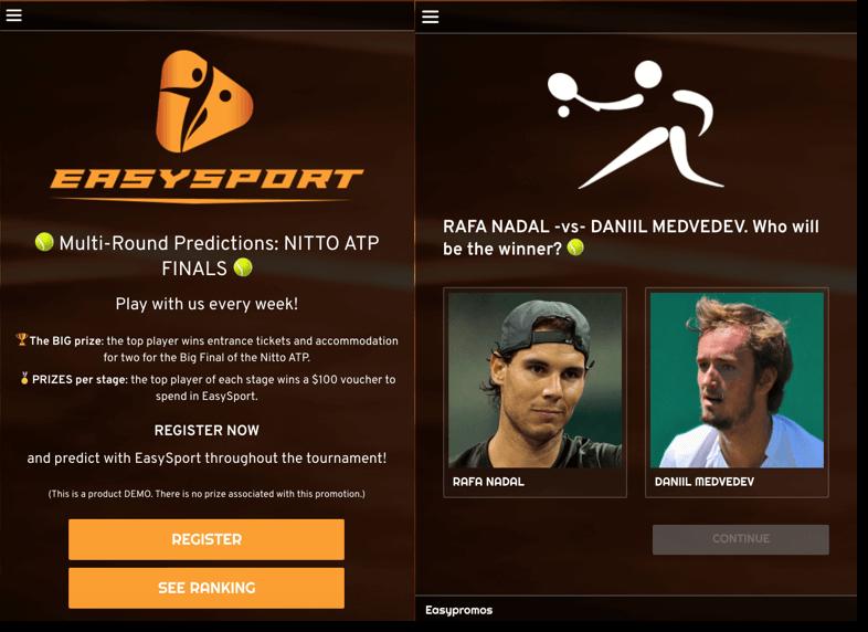 EasySport, Multi-Round Predictions for tennis tournaments