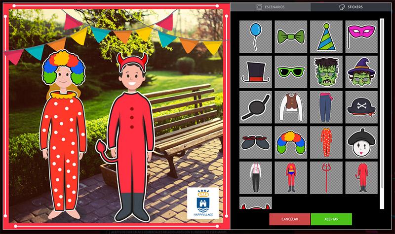 carnival costume contest, scenes application