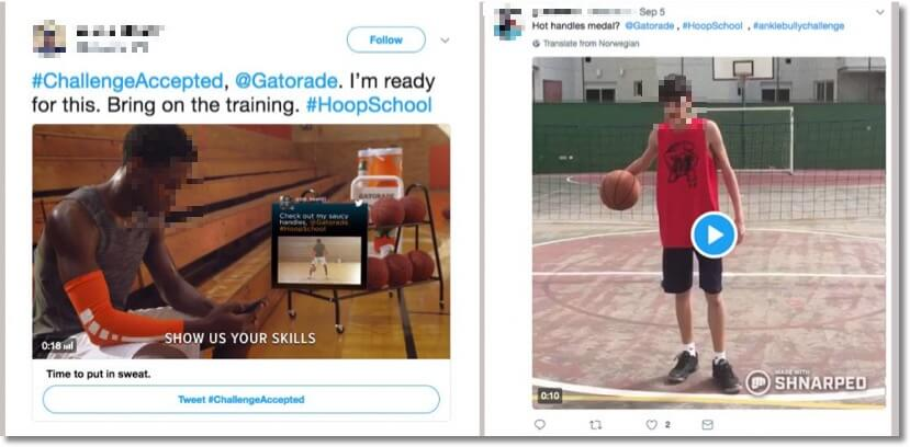 Back to School campaign ideas: examples of posts by users in a hashtag contest on Twitter