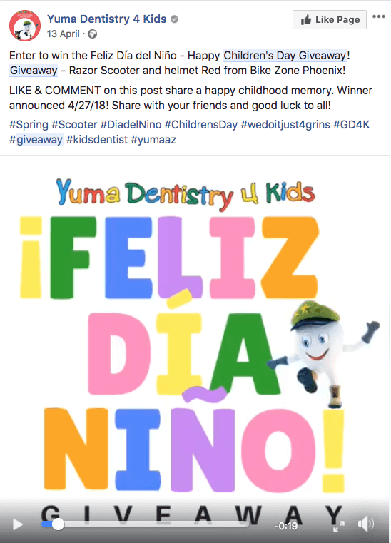 Children's Day campaign Facebook comments