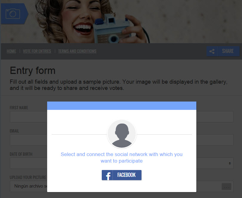 facebook connection box