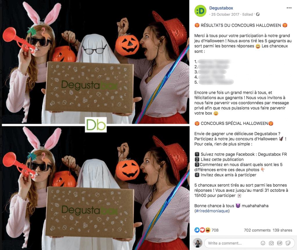 facebook halloween giveaway