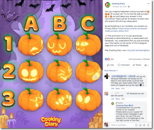 facebook halloween giveaway ideas