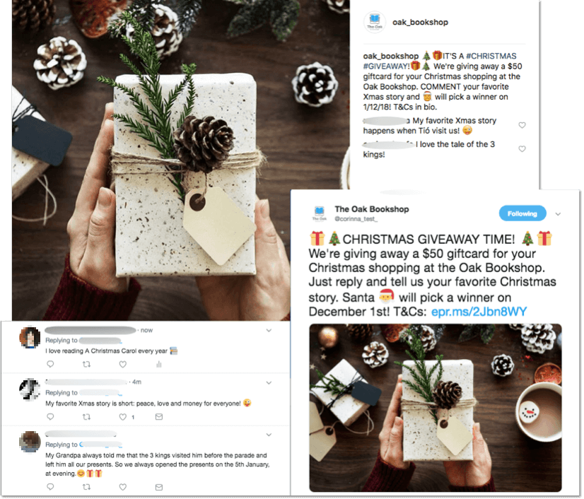 Multinetwork Instagram Twitter comments Christmas