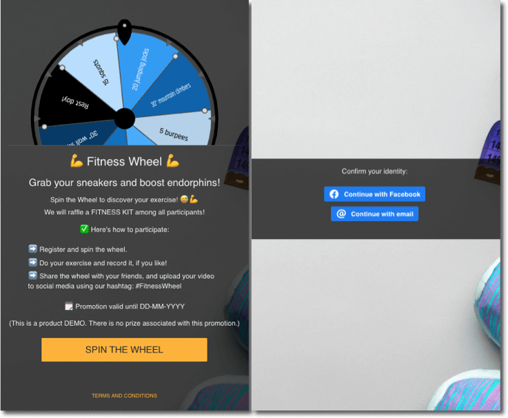 fitness wheel example