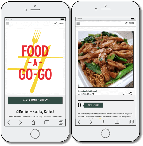 Food a go go promotion