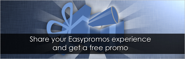 Get Free Promo for a blog post