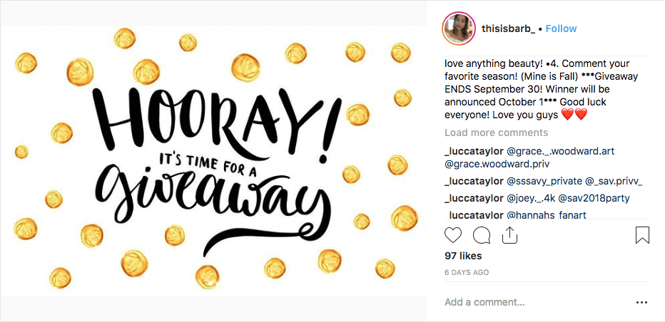 increase Instagram followers giveaway