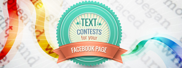 Facebook contest based on text