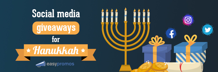 Social media giveaways for Hanukkah