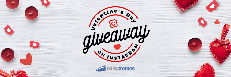 Valentine's Day giveaway on Instagram