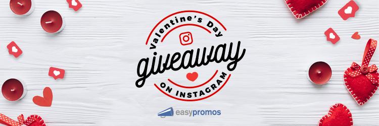 Valentine's Day giveaway on Instagram