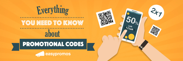 Promotional codes coupons
