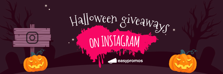Halloween giveaways on Instagram