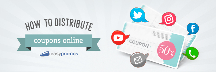 Distribute coupons online