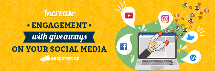Increase engagement social media giveaway