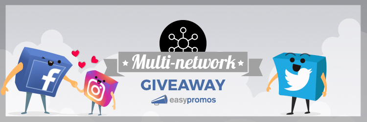 multinetwork giveaway on Facebook, Instagram and Twitter