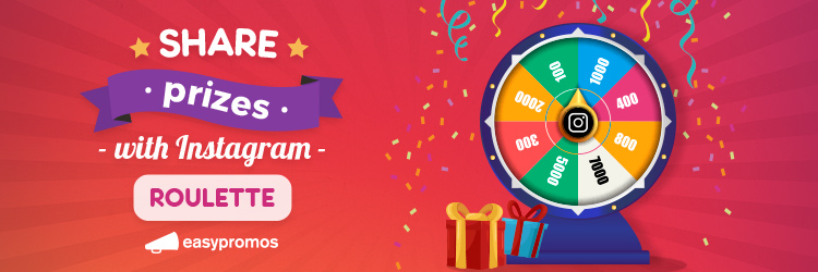 Share prizes with instagram roulette