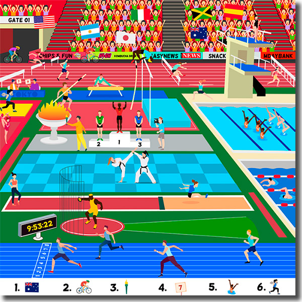 hidden objects game for the olympics