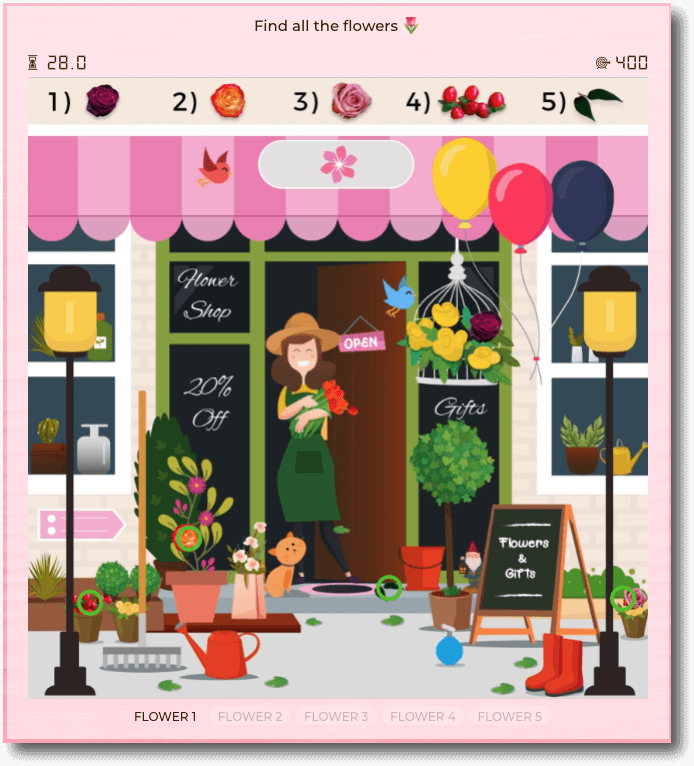 Mother's day promotion example gamification hidden objects game