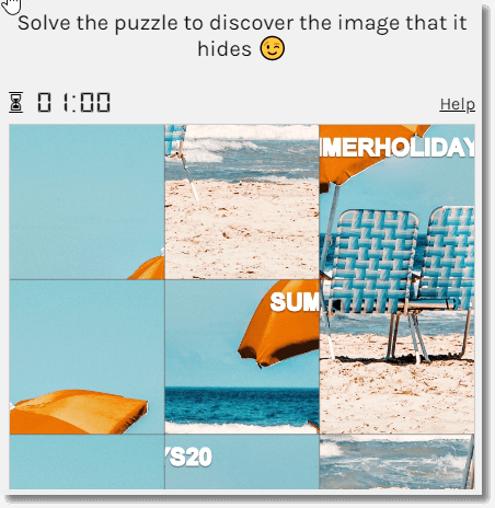 Hidden code. idea for a branded puzzle