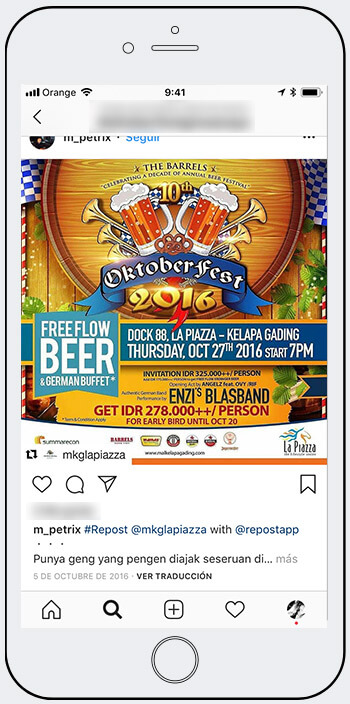 Oktoberfest giveaways Instagram