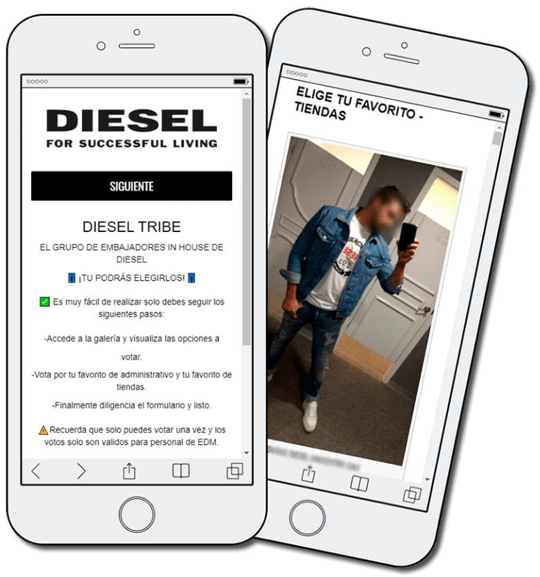 Employee engagement, example from Diesel