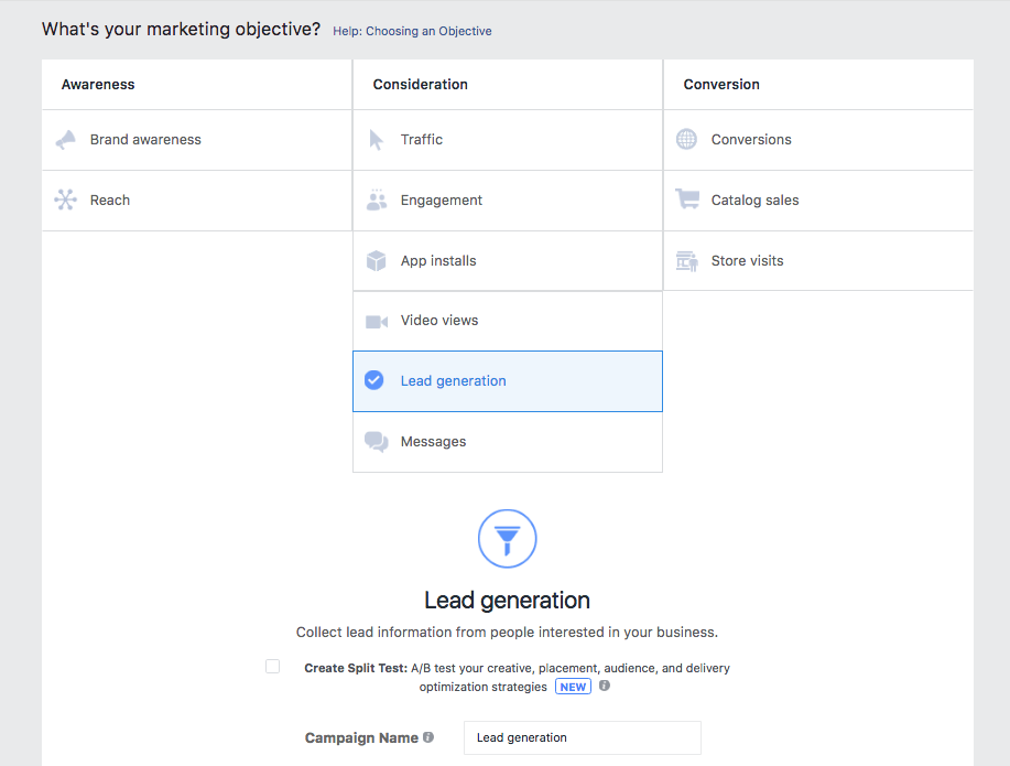 Lead Generation from Facebook Ads
