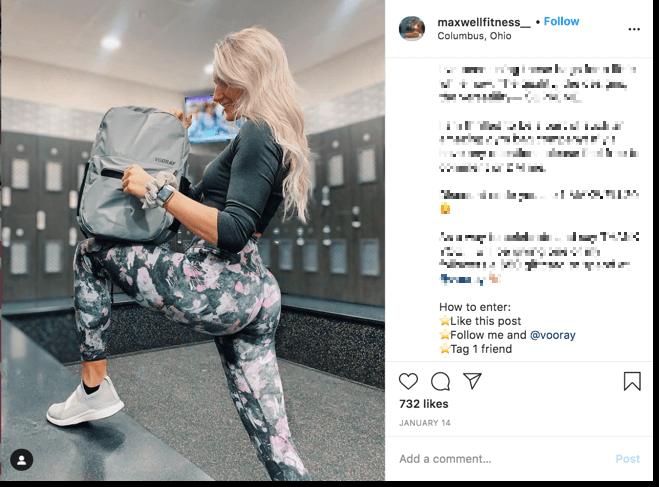 Host a social media giveaway on Instagram influencer