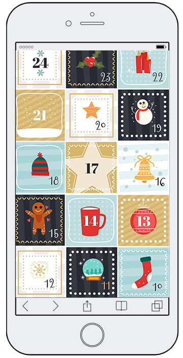Christmas marketing ideas Instagram Advent calendar