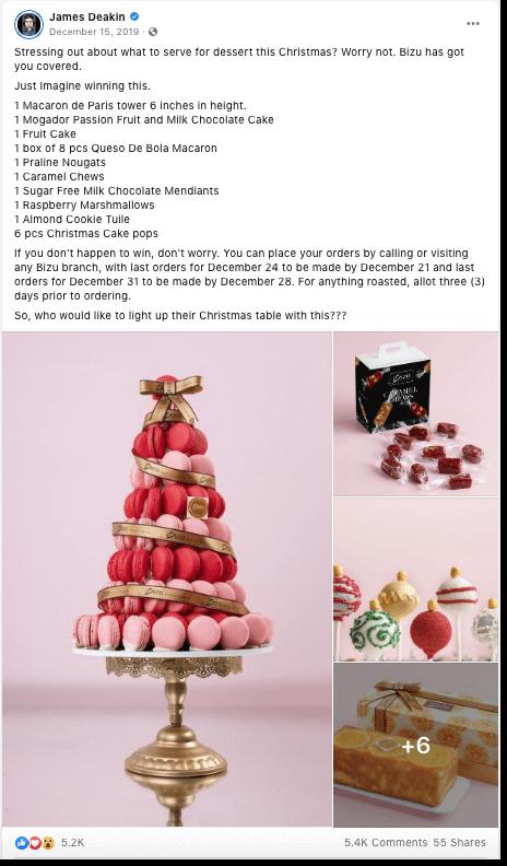 christmas facebook contest