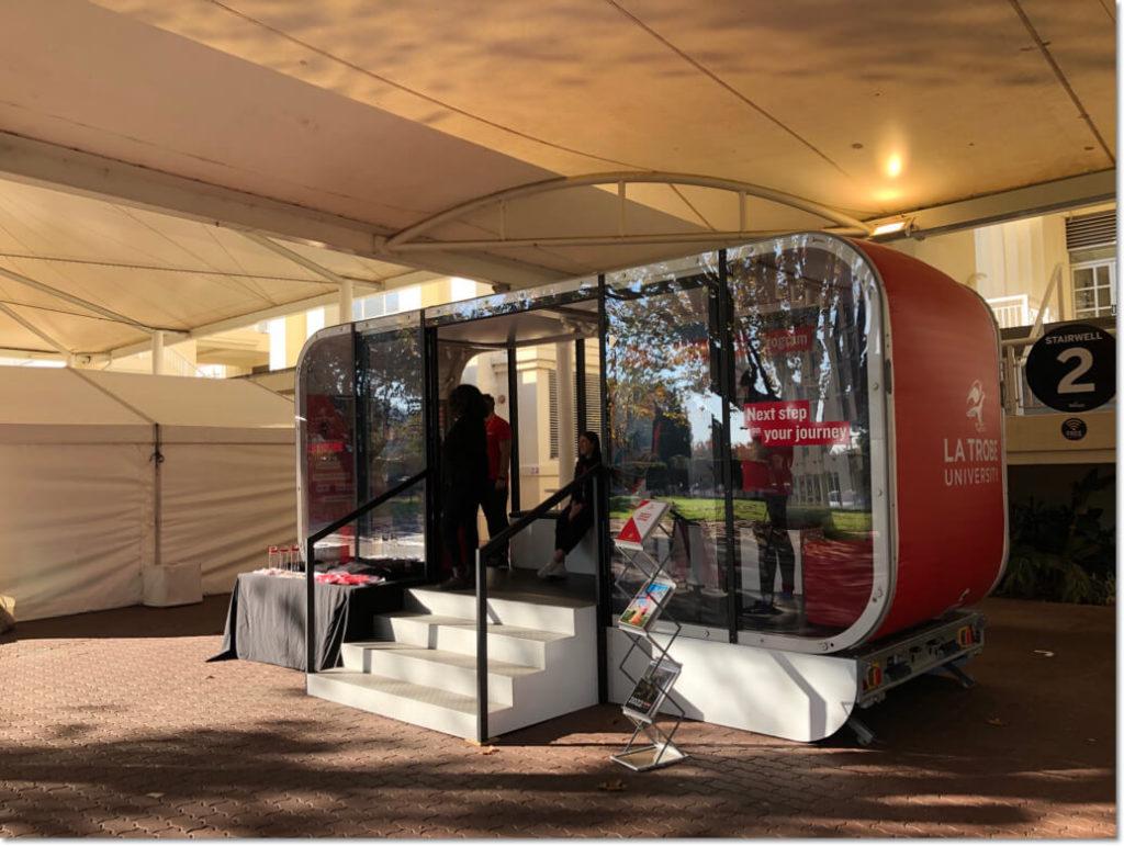la trobe university exhibition stand