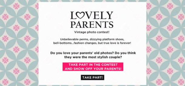 lovely parents oysho facebook contest