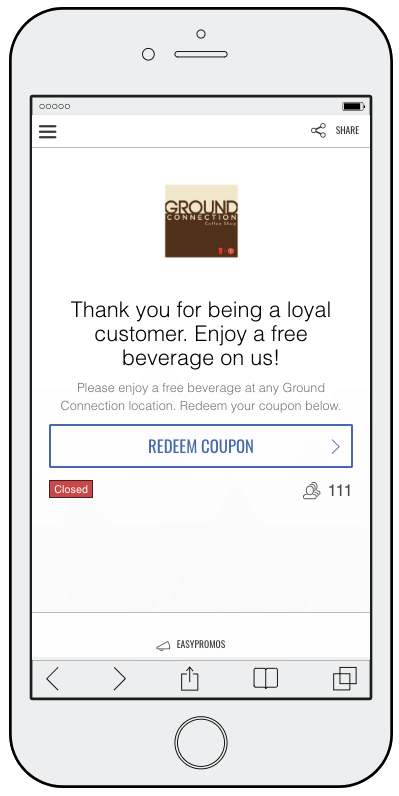 Coupons for ecommerce customer loyalty rewards