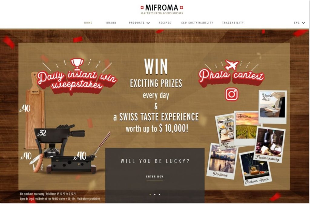 instant win cheese campaign by mifroma